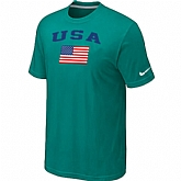 USA Olympics USA Flag Collection Locker Room T-Shirt Green,baseball caps,new era cap wholesale,wholesale hats