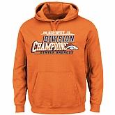 Men's Denver Broncos Majestic Orange 2015 AFC West Division Champions Pullover Hoodie